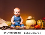 thanksgiving holiday  cute baby ... | Shutterstock . vector #1168036717