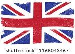 Vector Uk Flag In Grunge Style.