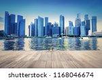 singapore city skyline of...   Shutterstock . vector #1168046674