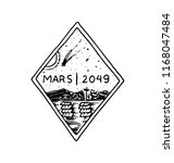 mission of mars logo.... | Shutterstock .eps vector #1168047484