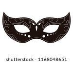 isolated carnival mask icon.... | Shutterstock .eps vector #1168048651