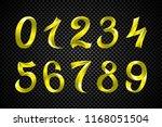 3d golden yellow metallic... | Shutterstock .eps vector #1168051504