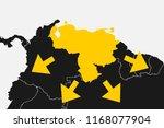 venezuela and south america.... | Shutterstock .eps vector #1168077904