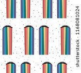 hand drawn rainbow tears in... | Shutterstock .eps vector #1168081024
