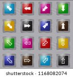 arrows vector glass icons for...