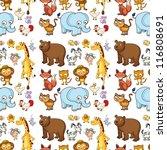 illustration of various animals ... | Shutterstock .eps vector #116808691