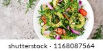diet menu. healthy salad of... | Shutterstock . vector #1168087564