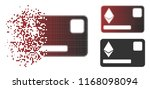 ethereum credit card icon in...   Shutterstock .eps vector #1168098094