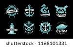 nautical theme  set of logos or ... | Shutterstock .eps vector #1168101331