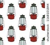 camp lantern seamless pattern.... | Shutterstock .eps vector #1168101844