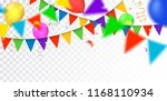 vector party  celebration or... | Shutterstock .eps vector #1168110934