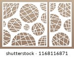 decorative card set for cutting ... | Shutterstock .eps vector #1168116871