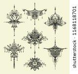 set decorative symbols in zen... | Shutterstock .eps vector #1168118701