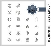 finance icons. set of line... | Shutterstock .eps vector #1168129327