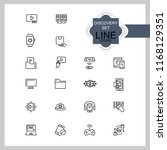 discovery icons. set of line... | Shutterstock .eps vector #1168129351