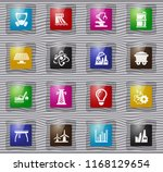 industry vector glass icons for ... | Shutterstock .eps vector #1168129654