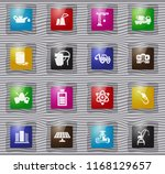 industry vector glass icons for ... | Shutterstock .eps vector #1168129657