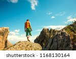 hiking in the mountains. the... | Shutterstock . vector #1168130164