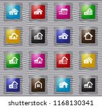 house type vector glass icons... | Shutterstock .eps vector #1168130341