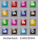 house type vector glass icons... | Shutterstock .eps vector #1168130344