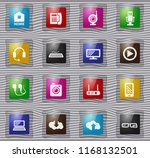 hi tech vector glass icons for... | Shutterstock .eps vector #1168132501