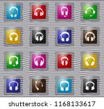 headphones glass web icons for... | Shutterstock .eps vector #1168133617