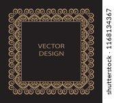 decorative frame in baroque... | Shutterstock .eps vector #1168134367