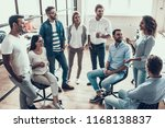 group of young business people... | Shutterstock . vector #1168138837