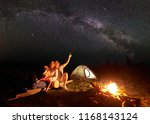 Family Camping In Mountains At...