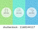three robotic surgery banner... | Shutterstock .eps vector #1168144117