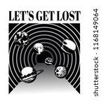 let's get lost. vector poster... | Shutterstock .eps vector #1168149064