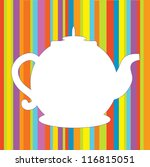 tea pot menu funny background... | Shutterstock .eps vector #116815051
