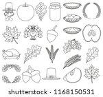 23 line art black and white... | Shutterstock .eps vector #1168150531