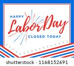 happy labor day vector... | Shutterstock .eps vector #1168152691