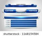 scoreboard broadcast graphic... | Shutterstock .eps vector #1168154584