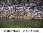 rocky coast. a stony cliff. a... | Shutterstock . vector #1168156831