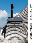 close view of a chimney on a... | Shutterstock . vector #1168157494