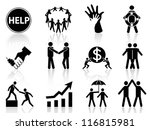 business help icons | Shutterstock .eps vector #116815981