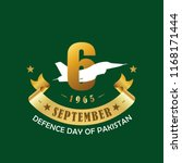 6th september  defence day of... | Shutterstock .eps vector #1168171444