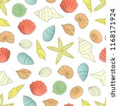 vector colored seamless pattern ... | Shutterstock .eps vector #1168171924