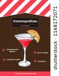 cosmopolitan cocktail recipe... | Shutterstock .eps vector #1168172071