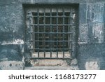 vintage old window with lattice ... | Shutterstock . vector #1168173277