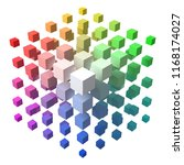 3d style vector cubic form made ... | Shutterstock .eps vector #1168174027