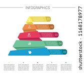 layered pyramid chart diagram.... | Shutterstock .eps vector #1168178977