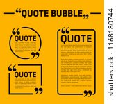 creative quote and comment text ... | Shutterstock .eps vector #1168180744