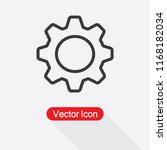 settings icon  gear icon vector ... | Shutterstock .eps vector #1168182034