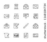collection of 16 letter outline ... | Shutterstock .eps vector #1168184734