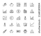 collection of 25 profit outline ... | Shutterstock .eps vector #1168185004