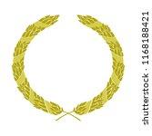 golden heraldic wreath entwined ... | Shutterstock .eps vector #1168188421