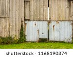 distressd rustic  wood barn... | Shutterstock . vector #1168190374